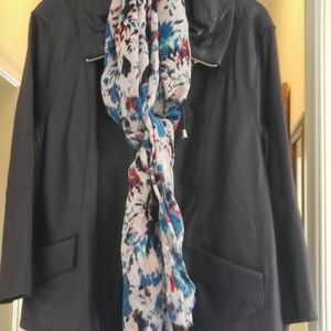 Chico's Leather Jacket with scarves